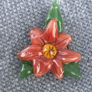 Handcrafted Glass Flower Pendant